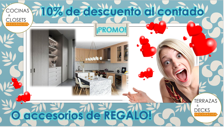 Promociones mes de la mama en cocinas y closets decoración